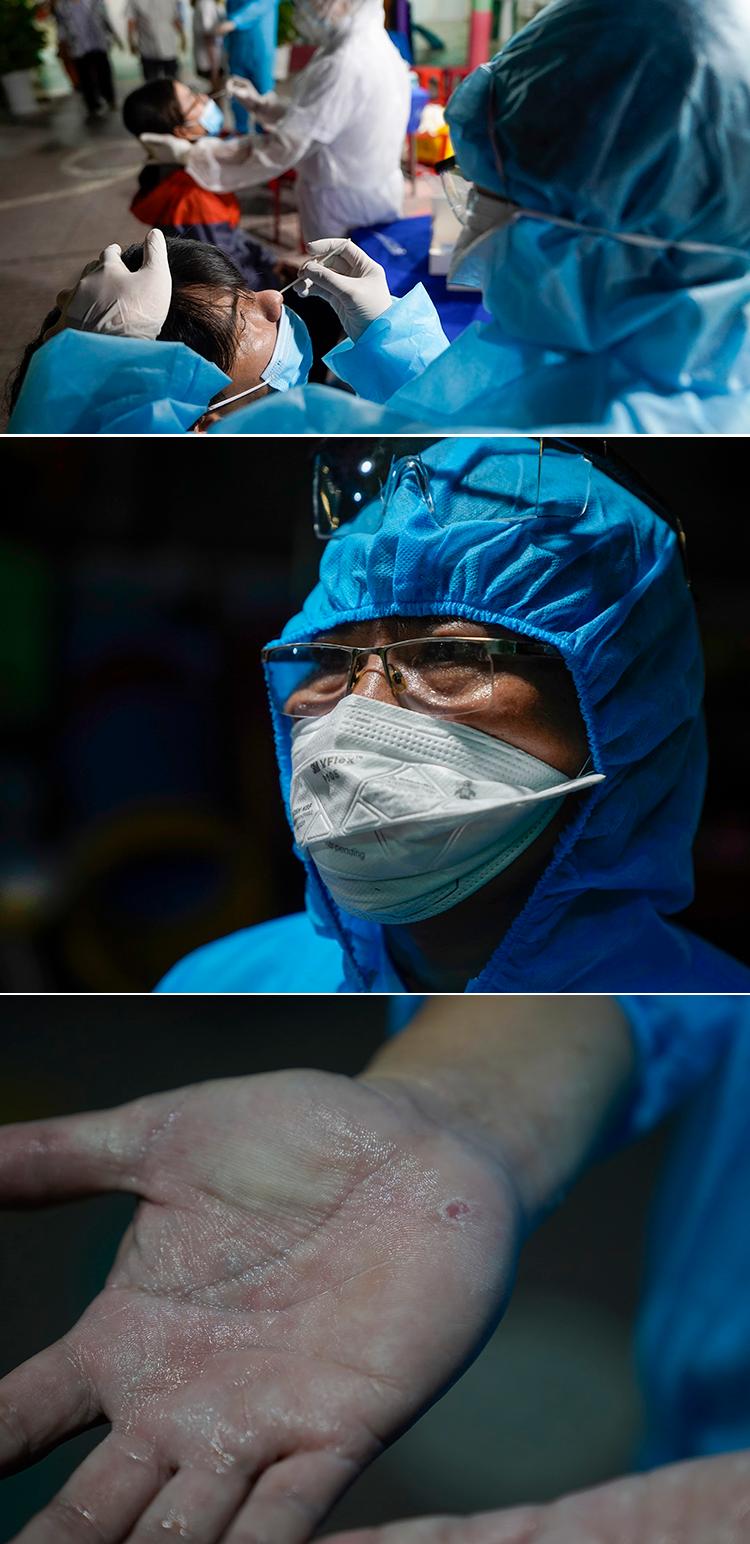 Đôi mắt ngàu đỏ của nữ y tá khi ca nhiễm từ nhóm truyền giáo tăng kỷ lục - 8
