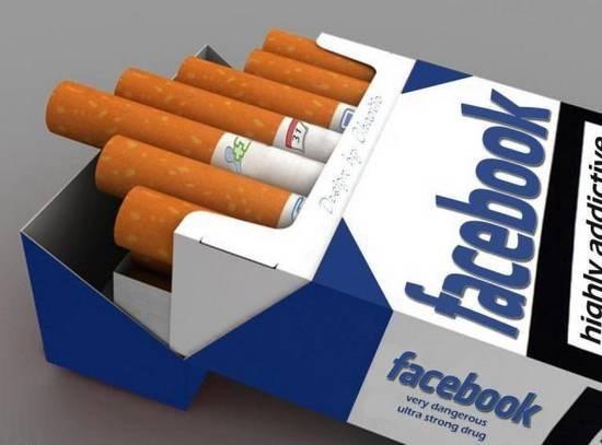 Hút thuốc lá có hại cho sức khỏe, và việc thường xuyên sử dụng Facebook cũng như vậy…