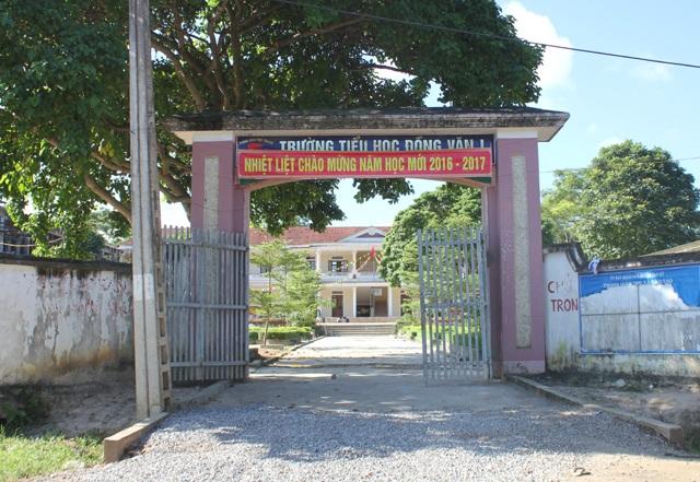 Trường Tiểu học Đồng Văn 1 đang trong quá trình xây dựng trường chuẩn Quốc gia.