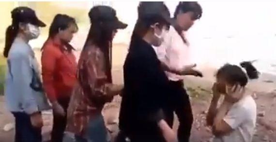 4 nữ sinh Trường THCS Quỳnh Long đã bị triệu tập, viết tường trình về sự việc.