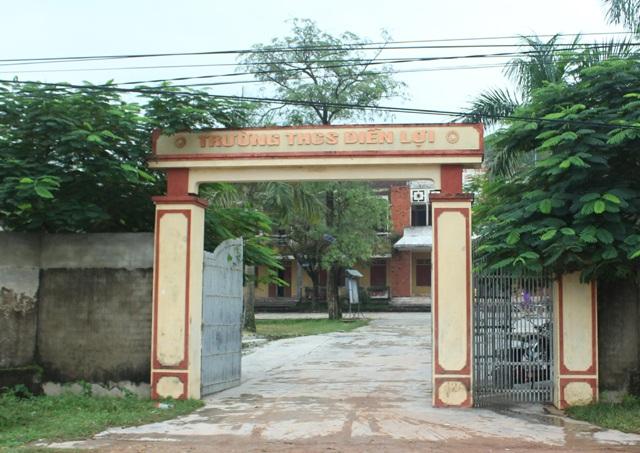 Trường THCS Diễn Lợi - nơi xảy ra tình trạng giáo viên môn Văn trông lớp khi đến tiết Sinh học.