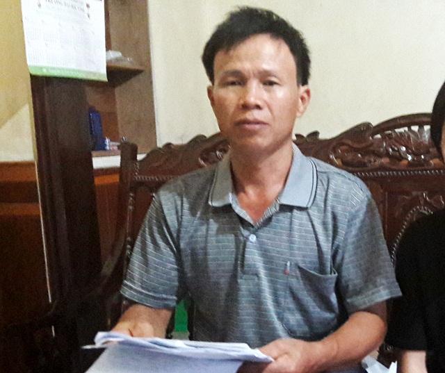 Ông Nguyễn Huy Chất trình bày sự việc với PV.