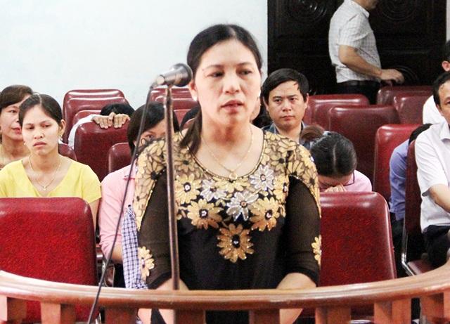 Bị cáo Hoàng Thị Oanh tại phiên tòa sơ thẩm.