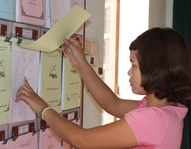 Công tác 14 năm nhưng là giáo viên hợp đồng với UBND huyện nên cô Nguyễn Thị Tĩnh hiện hưởng mức lương hơn 2 triệu đồng/tháng.