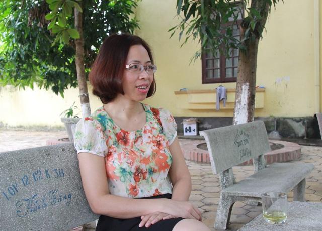 Cô Thơ An chia sẻ chuyện nghề với phóng viên.