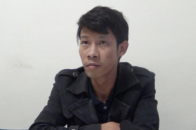 Nguyễn Bá Hưng tại cơ quan điều tra Công an TP Vinh.