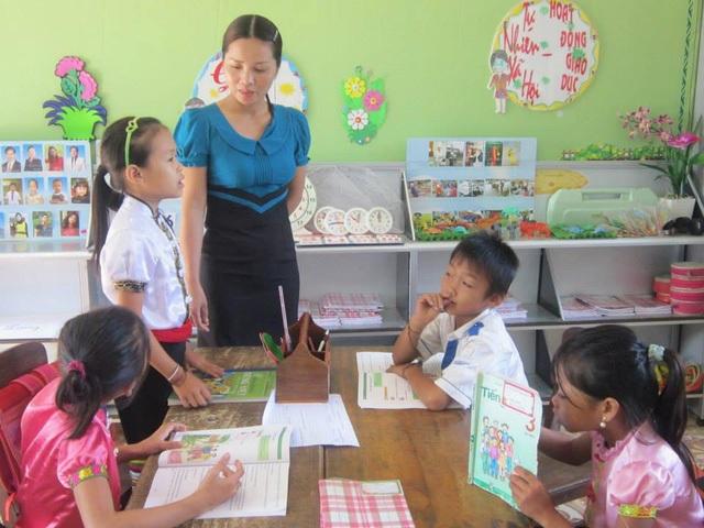 Mô hình trường học mới (VNEN) được thí điểm thực hiện tại 73 trường tiểu học ở Nghệ An.