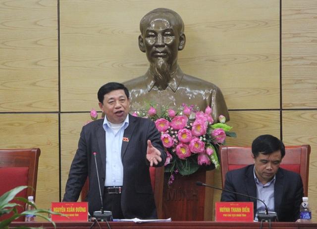 Ông Nguyễn Xuân Đường – Chủ tịch UBND tỉnh Nghệ An: An toàn tính mạng của người dân và khu dân cư xung quanh dự án là vấn đề phải được đặt lên hàng đầu.
