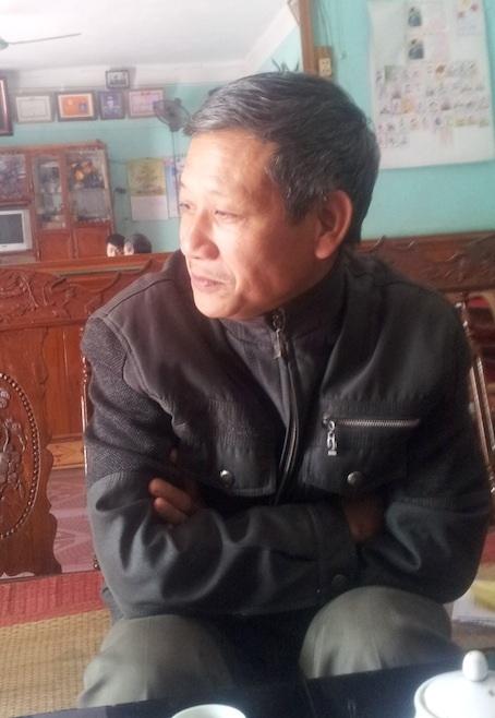 Trưởng thôn Gò Cao Trần Phú Lễ trong cuộc trao đổi với phóng viên về án mạng đau lòng.