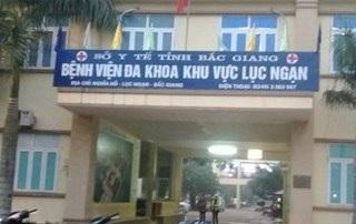 Bệnh viện Đa khoa Lục Ngạn, nơi xảy ra việc tử vong cháu bé 4 tháng tuổi