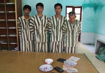 4 đối tượng đánh bạc hình thức xóc đĩa bị bắt giữ tại CQĐT