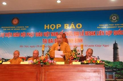 Ban tổ chức họp báo công bố sự kiện Đại lễ Vesak LHQ 2014 tại Hà Nội