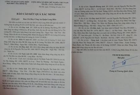 Kết quả xác minh nghi án mất tích 11 cháu bé của Công an Long Biên cung cấp cho báo chí ngày 11/8.