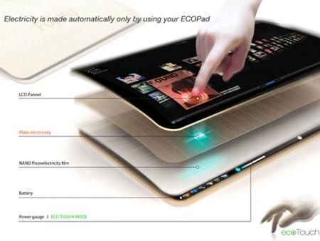 Thú vị máy tính bảng sạc pin bằng cảm ứng chạm - 3