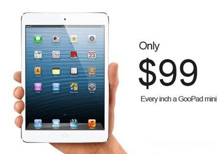 iPad mini nhái lộ diện chỉ sau 1 ngày Apple ra mắt sản phẩm mới.