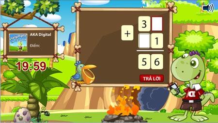 Các bài Toán được thiết kế như trò chơi với hình ảnh vui nhộn khiến trẻ dễ tiếp thu