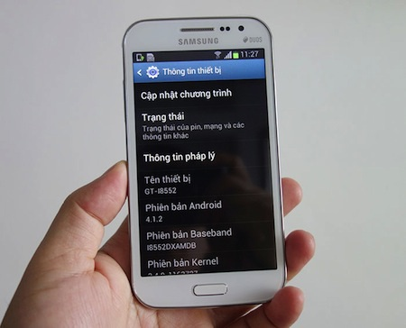 Máy chạy trên hệ điều hành Android 4.1.2