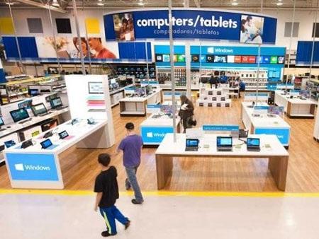 Microsoft sẽ chiếm phần lớn diện tích tại khu vực đồ điện tử của Best Buy.