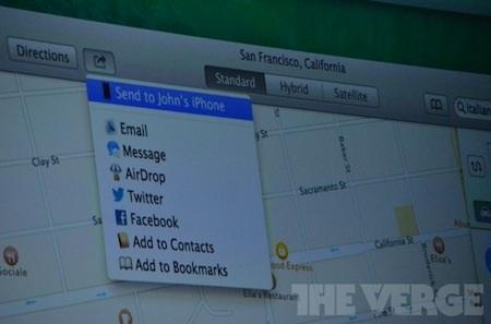 Chia sẻ chỉ dẫn trên Mac với điện thoại iPhone.