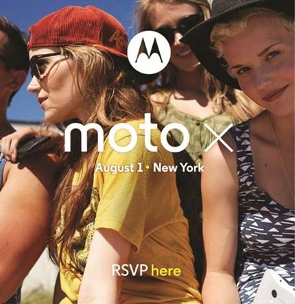 Moto X sẽ chính thức ra mắt vào ngày 1/8.