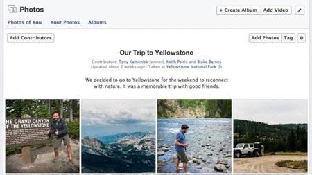 Facebook ra mắt tính năng nhiều người cùng tải ảnh lên Album