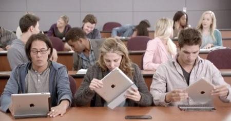 Theo Microsft, người dùng iPad đang loay hoay để tìm cách chép bài.