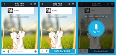 Việc sử dụng tin nhắn thoại trên Zalo rất đơn giản.