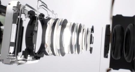 Ống kính quang học Zeiss của Đức cùng sáu thấu kính bên trong
