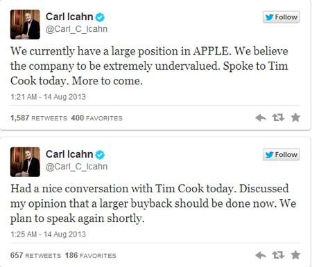 Hai đoạn tweet gây biến động trên thị trường chứng khoán.