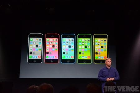 iPhone 5C xuất hiện với nhiều màu sắc.