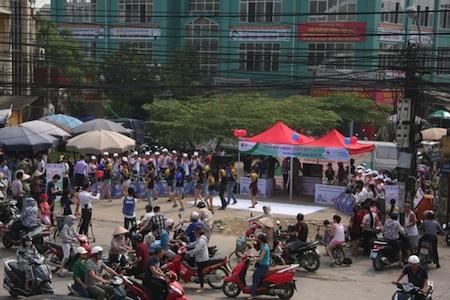 Gian hàng giới thiệu sản phẩm SCTV thu hút đông đảo người tham gia