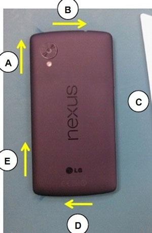 Ảnh Nexus 5 màu đỏ cũng bị rò rỉ trên Internet.
