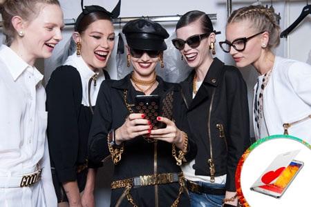 Galaxy Note 3 lên ngôi trong Tuần thời trang Xuân Hè 2013