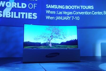 UHD TV màn hình cong 105 inch lớn nhất thế giới.