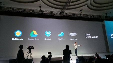 Asus cũng đẩy mạnh các dịch vụ lưu trữ đám mây trên các sản phẩm mới.
