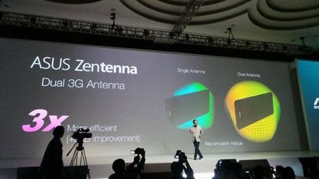 Công nghệ Zentenna với ăng-ten kép cho kết nối 3G tốc độ nhanh gấp 3 lần bình thường.