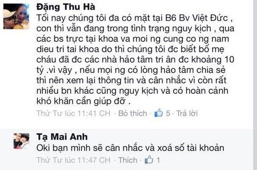 Khi được hỏi thông tin Tạ Mai Anh đá bóng sang tài khoản khác mang tên Đặng Thu Hà.