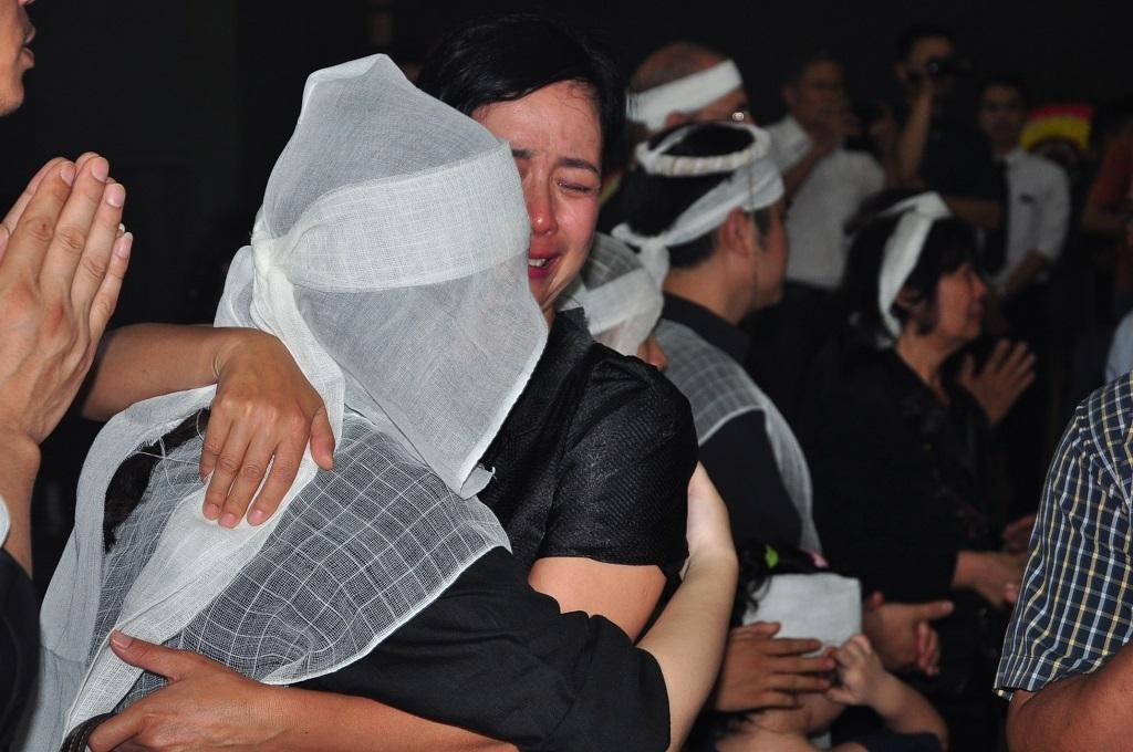 Nghệ sĩ Phạm Bằng đến đưa tiễn người anh em đồng nghiệp.