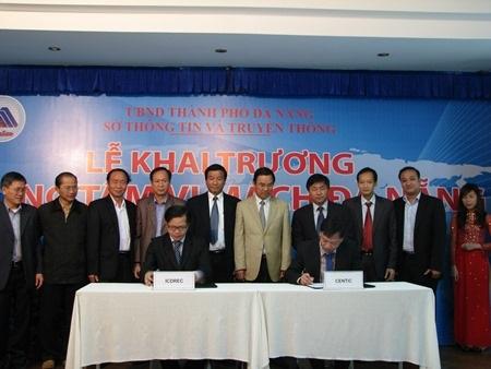 Lễ ký kết hợp tác giữa Trung tâm vi mạch Đà Nẵng với các đối tác