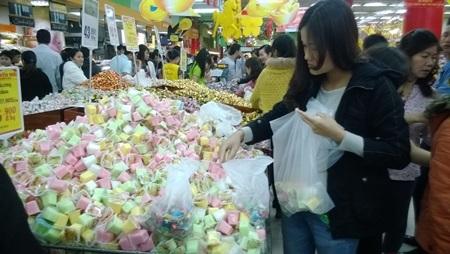 Mặt hàng được mua nhiều nhất là kẹo
