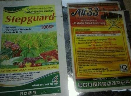 Sản phẩm thuốc bảo vệ thực vật bị người dân tố là nguyên nhân gây cháy lá, thối rễ
