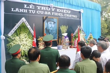 Tổ chức lễ truy điệu lãnh tụ Cuba Fidel Castro - 3