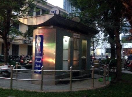 Một kiểu nhà vệ sinh bằng thép đã được xây dựng ở Hà Nội