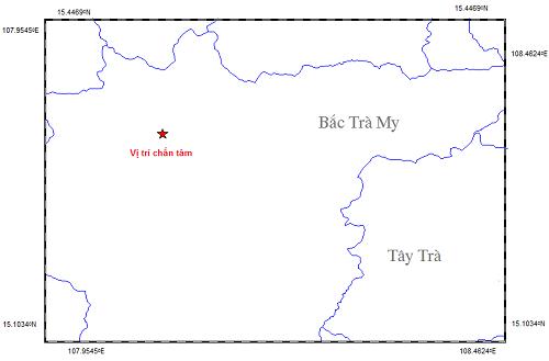  Vị trí trận động đất xảy ra ngày 3/12. (Ảnh: Viện Vật lý địa cầu)