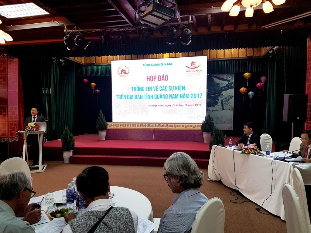 Tỉnh Quảng Nam họp báo công bố nhiều chương trình nghệ thuật, sự kiện trong dịp lễ kỷ niệm 20 ngày tái lập tỉnh vào chiều ngày 26/12