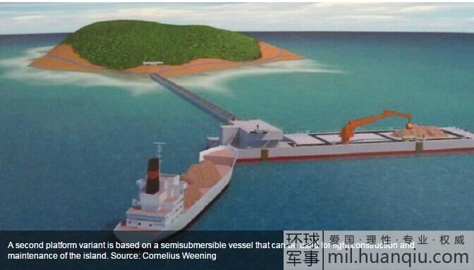 Đồ họa mô phỏng ụ tàu nổi của Trung Quốc.