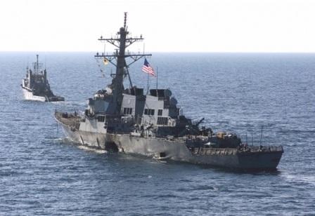 Tàu chiến USS Donald Cook của Mỹ hiện diện ở Biển Đen.