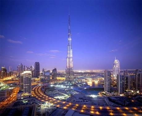 Tháp Burj Khalifa - tòa tháp cao nhất thế giới tại tiểu vương Dubai, UAE