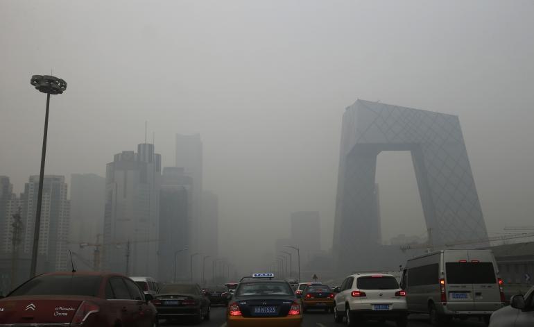 Thủ đô Bắc Kinh của TQ phải đối mặt với tình trạng ô nhiễm không khí nghiêm trọng. Ảnh: Reuters