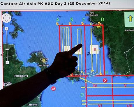 Khu vực tìm kiếm sẽ mở rộng từ 7 vùng trong ngày 29/12 lên 13 vùng vào hôm nay.